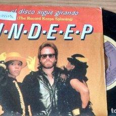 Discos de vinilo: SINGLE (VINILO) DE INDEEP AÑOS 80. Lote 102168091