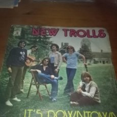Discos de vinilo: NEW TROLLS. IT´S DOWNTOWN. I CAN SEE THE RAIN. MB1. Lote 102168255