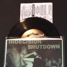 Discos de vinilo: SINGLE EP VINILO INDECISION / SHUTDOWN YOUTH CREW 1995 HARDCORE BACK TA BASICS NYHC. Lote 148807289