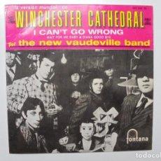 Discos de vinilo: THE NEW VAUDEVILLE BAND ''WINSCHESTER CATHEDRAL'' AÑOS 1966 VINILO DE 7'' EPS. Lote 102234567
