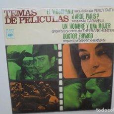 Discos de vinilo: TEMAS DE PELICULAS ''EL VIRGINIANO'' AÑO 1967 VINILO DE 7'' EPS DE 4 CANCIONES. Lote 102235359
