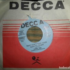 Discos de vinilo: LENNY DEE - RUBY DON´T TAKE YOUR LOVE TO TOWN - SINGLE PROMO - ORIGINAL USA - DECCA 1969 -. Lote 102276139