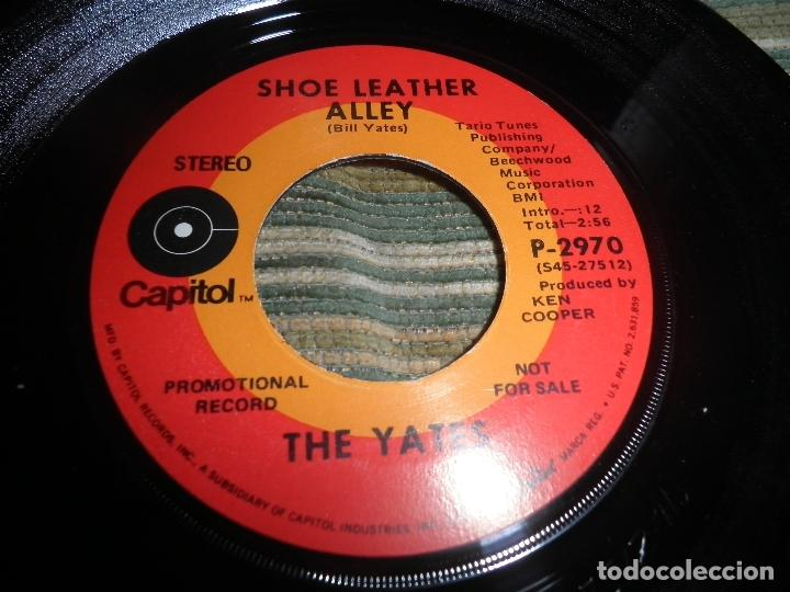 Discos de vinilo: THE YATES - I´M ONLY COUNTRY - SINGLE PROMOCIONAL - ORIGINAL U.S.A. CAPITOL RECORDS 1970 - STEREO - - Foto 5 - 102276735