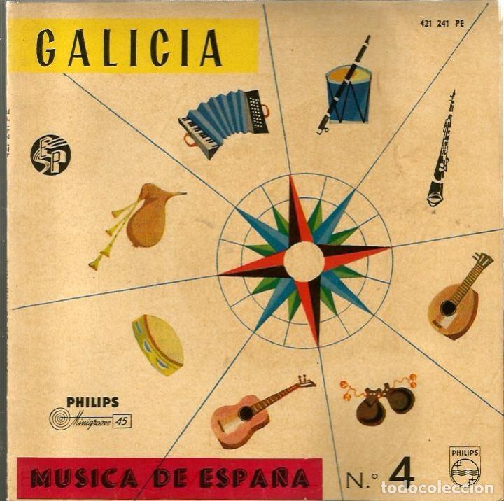 EP CORAL POLIFONICA FOLLAS NOVAS : GALICIA ( MUSICA DE ESPAÑA Nº 4) SI VAS A SAN BENITIÑO + 3 (Música - Discos de Vinilo - EPs - Étnicas y Músicas del Mundo)