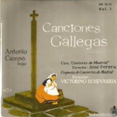 Discos de vinilo: EP CORO CANTORES DE MADRID : CANCIONES GALLEGAS VOL 1. Lote 102278175