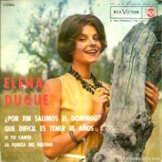Discos de vinilo: EP ELENA DUQUE : ¿POR FIN SALIMOS EL DOMINGO? + 3 . Lote 102278427