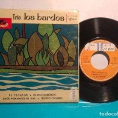 Discos de vinilo: TRÍO LOS BARDOS EL PESCADOR + 3 TEMAS 1963. Lote 102320959