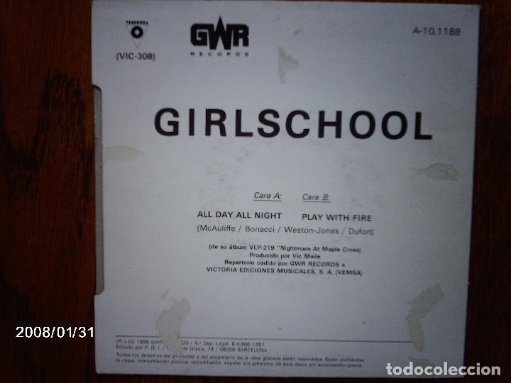 Discos de vinilo: girlschool - all day all night + play with fire - Foto 2 - 102323843