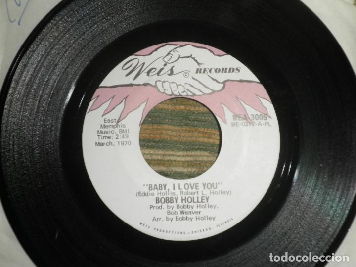 BOBBY HOLLEY - MOVING DANCER / BAY, I LOVE YOU - SINGLE ORIGINAL U.S.A. - WEIS RECORDS 1970 (Música - Discos - Singles Vinilo - Funk, Soul y Black Music)