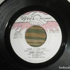Discos de vinilo: BOBBY HOLLEY - MOVING DANCER / BAY, I LOVE YOU - SINGLE ORIGINAL U.S.A. - WEIS RECORDS 1970. Lote 102346323