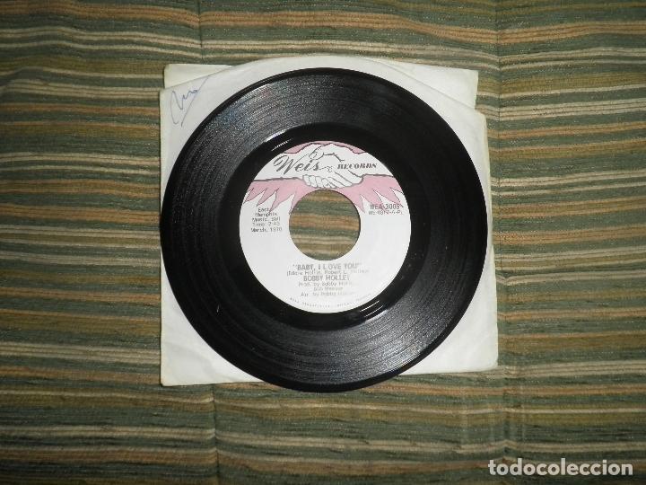 Discos de vinilo: BOBBY HOLLEY - MOVING DANCER / BAY, I LOVE YOU - SINGLE ORIGINAL U.S.A. - WEIS RECORDS 1970 - Foto 2 - 102346323