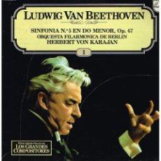 Discos de vinilo: BEETHOVEN SINFONIA Nº 5 EN DO MENOR OP. 67 - LP 1981. Lote 102348487