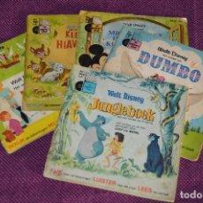Discos de vinilo: ANTIGUO LOTE - 5 DISCOS CUENTOS INFANTILES ANTIGUOS - WALT DISNEY - AÑOS 60 - VINTAGE - HAZ OFERTA. Lote 102363075
