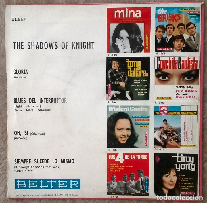 Discos de vinilo: SHADOWS OF KNIGHT RARO EP GARAGE PUNK GLORIA+3 - Foto 2 - 102370419