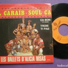 Discos de vinilo: CARAIB SOUL BAND CA BON+1 - SG FRANCIA BLUE 1960S // AFRO CARIBE BEGINE-GROOVE BREAKS WAH WAH ORGAN. Lote 102389807
