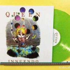 Discos de vinil: QUEEN LP INNUENDO VINILO COLOR VERDE MUY RARO COLECCIONISTA. Lote 89540495