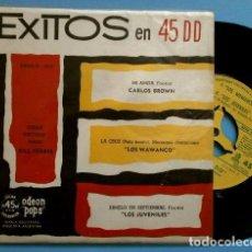 Discos de vinilo: EXITOS (EP ED. ARGENTINA 1960) LOS JUVENILES (DIMELO EN SEPTIEMBRE) - BILL FORBES - LOS WAWANCO. Lote 102435067