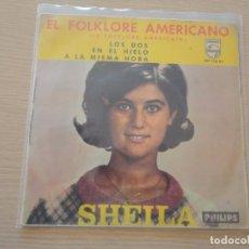 Discos de vinilo: EP EL FOLKLORE AMERICANO LOS DOS SHEILA MADE IN SPAIN 1966 MBE. Lote 102439471