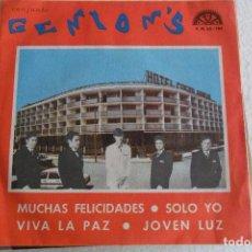Discos de vinilo: GENION'S - MUCHAS FELICIDADES + 3 EP 1970. Lote 102442039
