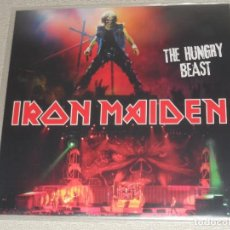 Discos de vinilo: IRON MAIDEN - THE HUNGRY BEAST LP COLOR AMARILLO METALLICA DIO SAXON DORO MEGADETH. Lote 102450375