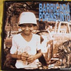 Discos de vinilo: LP - BARRICADA - POR INSTINTO (SPAIN, MERCURY RECORDS 1991, CONTIENE ENCARTE). Lote 102450607