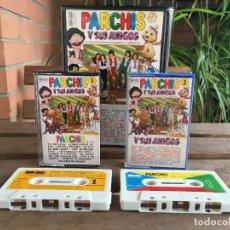 Discos de vinilo: PARCHIS Y SUS AMIGOS ESTUCHE 2 CASETTE CINTAS. Lote 102454363
