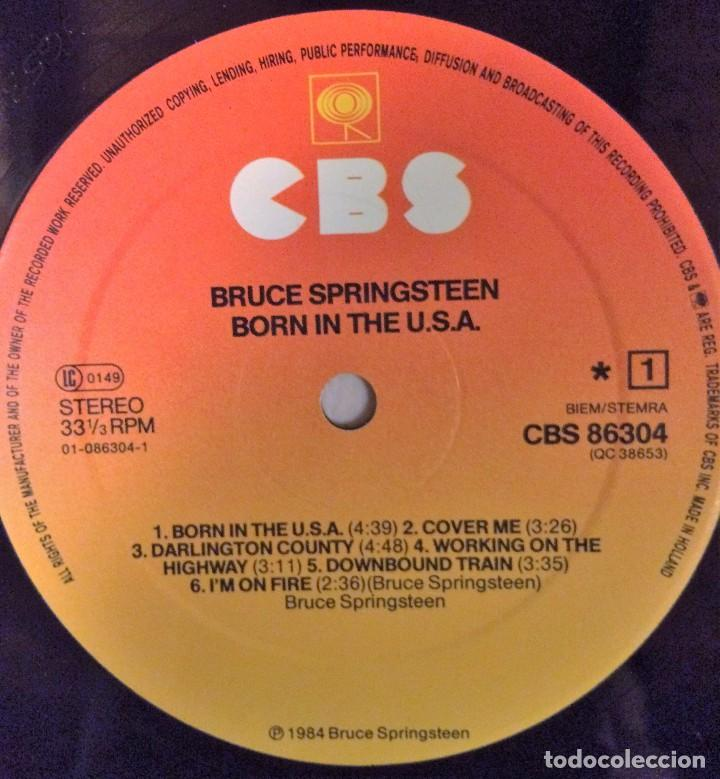 Discos de vinilo: BRUCE SPRINGSTEEN BORN IN THE USA VINILO LP - Foto 5 - 102466635