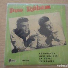Discos de vinilo: EP DUO RUBAM ENAMORADA 1961 MUY BUEN ESTADO. Lote 102485147