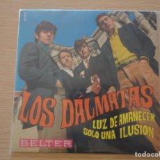 Discos de vinilo: SINGLE LOS DALMATAS LUZ DE AMANECER SOLO UNA ILUSION EXCELENTE ESTADO MADE IN SPAIN 1968. Lote 102485567