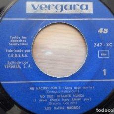 Discos de vinilo: EP LOS GATOS NEGROS MADE IN SPAIN 1965 VEN JOHNNY VEN TE RECUERDO HE NACIDO POR TI NO DEBI BESARTE N. Lote 102485727