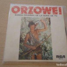 Discos de vinilo: ORZOWEI BANDA SONORA DE LA SERIE DE TV 1977 MBE. Lote 102487359