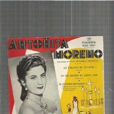 Discos de vinilo: ANTOÑITA MORENO LA TARANTA. Lote 102492707