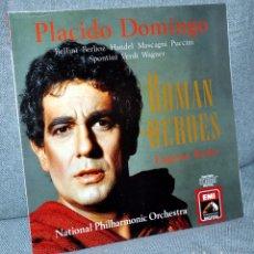 Discos de vinilo: ROMAN HEROES - PLACIDO DOMINGO - DIRIGE: EUGENE KOHN - LP VINILO 12'' - EMI 1990. Lote 102502583