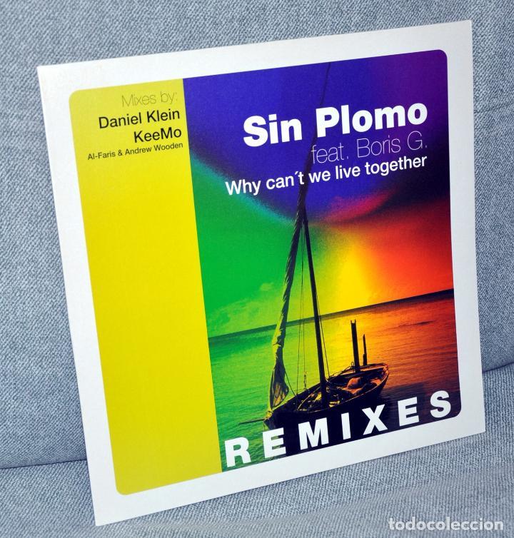 DJ SIN PLOMO - WHY CAN'T WE LIVE TOGETHER - MAXI VINILO 12'' - 3 TRACKS - DRIZZLY MUSIC 2000 (Música - Discos de Vinilo - Maxi Singles - Pop - Rock Internacional de los 90 a la actualidad)