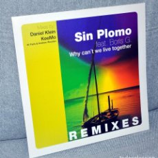 Discos de vinilo: DJ SIN PLOMO - WHY CAN'T WE LIVE TOGETHER - MAXI VINILO 12'' - 3 TRACKS - DRIZZLY MUSIC 2000. Lote 102504407