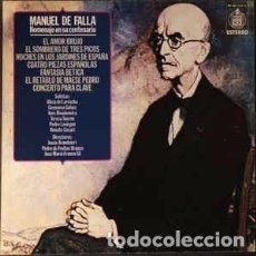 Discos de vinilo: MANUEL DE FALLA. HOMENAJE EN SU CENTENARIO. CAJA-ESTUCHE CON 3 LPS. Y LIBRETO. Lote 191386228