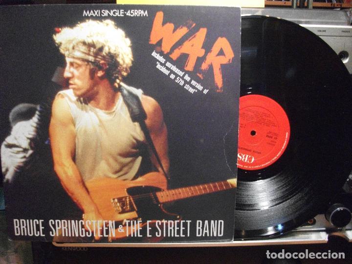 BRUCE SPRINGSTEEN & THE E. STREET B BAND WAR MAXI SPAIN 1986 PDELUXE (Música - Discos de Vinilo - Maxi Singles - Jazz, Jazz-Rock, Blues y R&B)