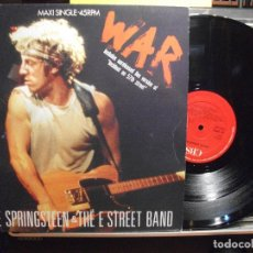 Discos de vinilo: BRUCE SPRINGSTEEN & THE E. STREET B BAND WAR MAXI SPAIN 1986 PDELUXE. Lote 102544915