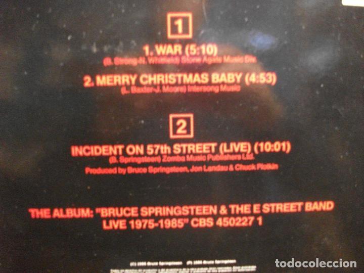 Discos de vinilo: BRUCE SPRINGSTEEN & THE E. STREET B BAND WAR MAXI SPAIN 1986 PDELUXE - Foto 2 - 102544915