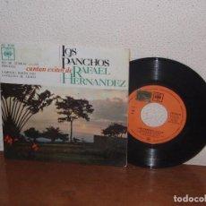 Discos de vinilo: LOS PANCHOS 7´´ EXTENDED PLAY MEGA RARE VINTAGE SPAIN 1963. Lote 102546315