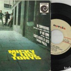 Discos de vinilo: MICKY Y LOS TONYS EP NO COMPRENDEMOS POR QUE NO SOMOS MILLONARIOS + 3 1966. Lote 102546399