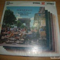Discos de vinilo: LP ADRIANO - THE MAGICV ACCORDIONS OF - SUR LE PAVE. Lote 102552271