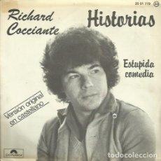 Discos de vinilo: RICHARD COCCIANTE. SINGLE. SELLO POLYDOR. EDITADO EN ESPAÑA. AÑO 1978. Lote 102597087