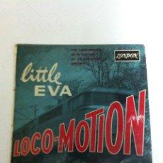 Discos de vinilo: LITTLE EVA - LOCO-MOTION - (DISCO FRANCÉS). Lote 102610335