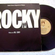 Discos de vinilo: LP. VINILO . ROCKY. BANDA SONORA ORIGINAL DE LA PELICULA . MUSICA DE BILL CONTI . UNITED ARTITS 1977. Lote 102615487