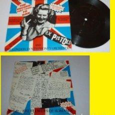 Discos de vinilo: THE EX PISTOLS - LAND OF HOPE & GLORY / THE FLOWERS OF ROMANSK 1984, RARO PUNK, ORG EDT UK, EXC. Lote 102622595