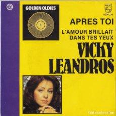 Discos de vinilo: VICKY LEANDROS - APRÈS TOI (EUROVISION - RARA EDICIÓN BELGA!). Lote 102634471