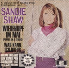 Discos de vinilo: SANDIE SHAW - WIEDEHOPF IN MAI (VERS. ALEMANA DE 'PUPPET ON A STRING') EUROVISION 1967. Lote 102634619