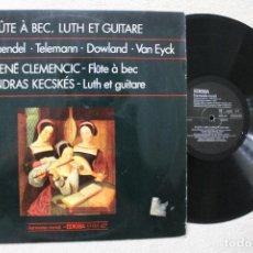 Discos de vinilo: FLUTE A BEC, LUTH ET GUITARE LP VINYL MADE IN SPAIN 1975. Lote 102644291