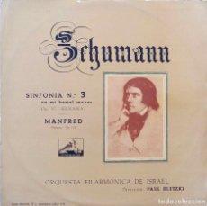 Discos de vinilo: SCHUMANN. SINFONIA Nº 3. MANFRED. PAUL KLETZKI. LP ESPAÑA.. Lote 102660547